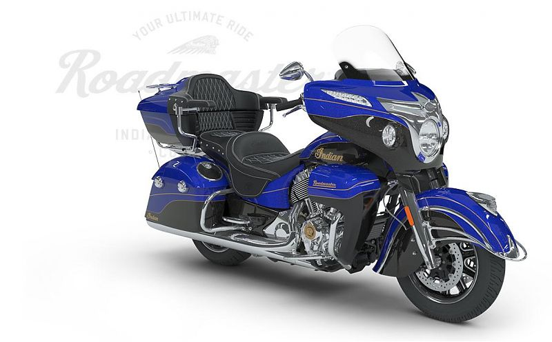 Мотоцикл Indian Roadmaster Elite, Cobalt Candy over Black Crystal w/23K Gold Trim