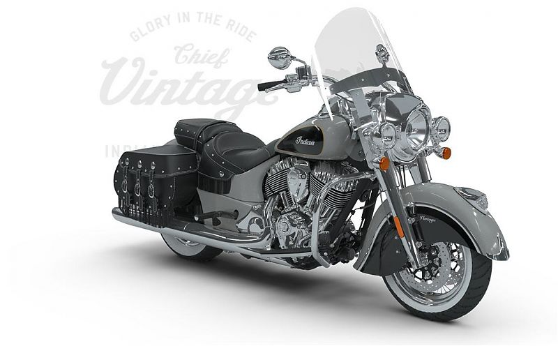 Мотоцикл Indian Chief Vintage, Star Silver over Thunder Black